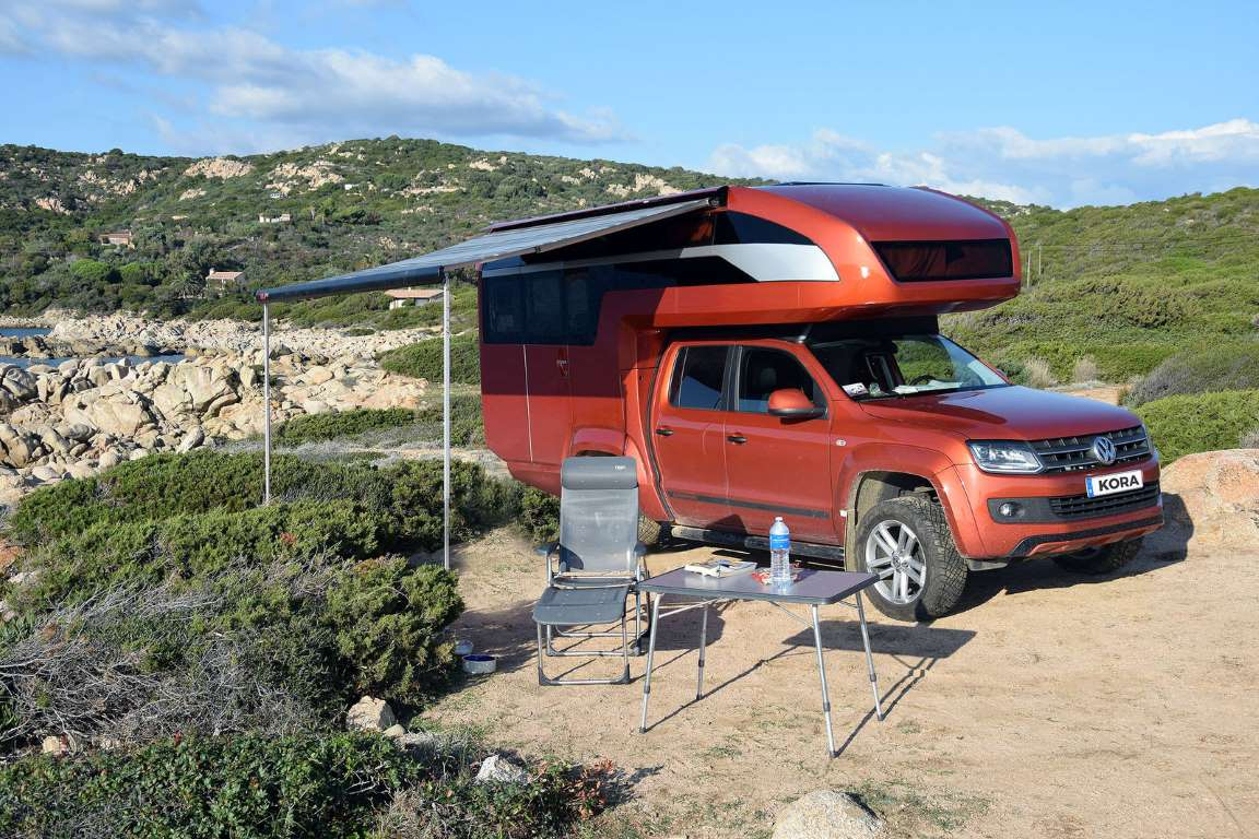 glamping vw amarok wohnkabine kora travel logbuch. Black Bedroom Furniture Sets. Home Design Ideas