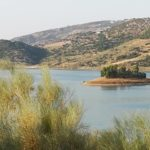 Insel im Embalse de Zahara-el Gastor