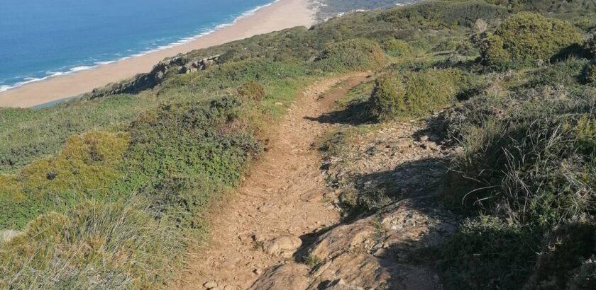 Joggingstrecke - Wanderung - Miradouro do Facho - Praia da Gralha - Praia do Salgado und zurück